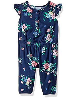 Baby Girls' Floral Print Romper