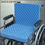 Egg Crate Cushion for Recliner Eggcrate Wheelchair Cushion with Back 18 x32 x3