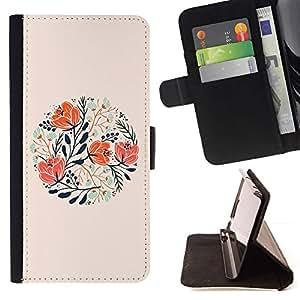 Peach Floral Spring Card Gift - Modelo colorido cuero de la carpeta del tirón del caso cubierta piel Holster Funda protecció Para HTC Desire 820