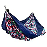 This Equip Two Person Travel Hammock has plenty of room for two or keep it all to yourself and relax in ultimate comfort. It packs conveniently in the integrated a bag for easy transportation and folds into a compact size. This hammock includes a han...