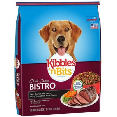 Kibbles 'n Bits Bistro Oven Roasted Beef Flavor Dry Dog Food, 31-Pound