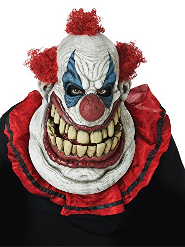 Last Laugh The Clown Costume (California Costumes Men's Big Mouth MASK, Fatty MCCLOWNFACE, One)