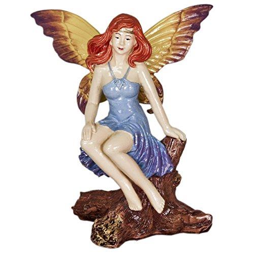 Blue Ribbon EE-370 Pet Products Exotic Environments Mystical Fairy on Log Aquarium Ornament