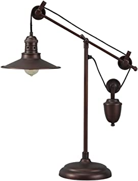 Amazon Com Signature Design By Ashley Kylen Desk Lamp With Metal Shade With In Line Switch Industrial Bronze Finish Home Improvement