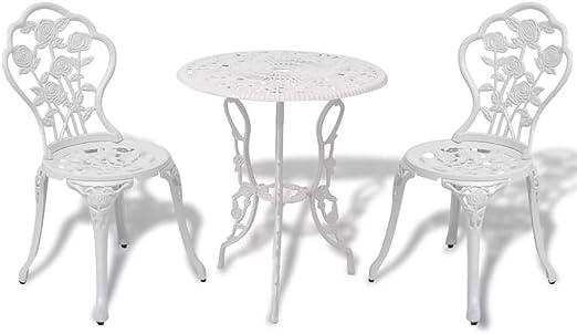 binzhoueushopping Table et chaises Bistro de Jardin 3 pièces ...