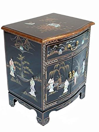 black lacquered furniture. black lacquered furniture with mother of pearl oriental bedside cabinet i