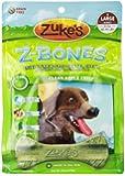 Zuke's Z-Bones Edible Grain-Free Dental Chews, Clean Apple Crisp, Large 2.5-Ounce, 6 Count