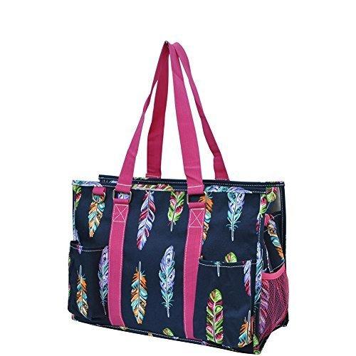 N Gil All Purpose Organizer Medium Utility Tote Bag 2 (Feather Hot Pink)