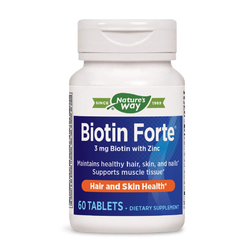 Biotin Forte with Zinc, 60 Tabs (Pack of 2)