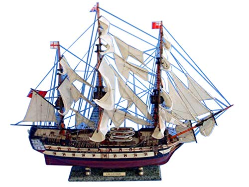 HMS Leopard Tall Model Ship 36 inch