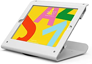 Beelta Tablet Stand for 10.2 inch iPad 7th/8th Generation, 360 Swivel Base, Anti Theft iPad Retail Stand, Metal, White, BSC102WT