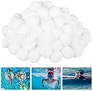 N\B Esferas de filtro de piscina Meio de filtro de fibra ecológica de 450 g Bola de limpeza de piscina de boa