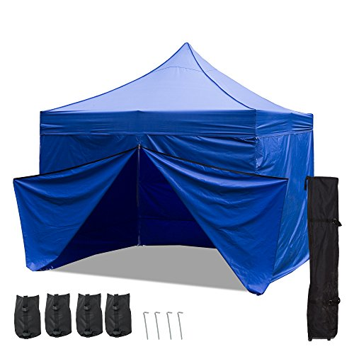 Punchau Commercial Pop Up Canopy Tent with Four Sidewalls 10