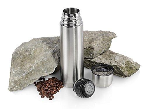 Sagaform Thermoflasche aus Edelstahl   Mit integriertem Trinkdeckel   Perfekte Isolierung Ihrer Getränke   Vakuum Isolierflasche