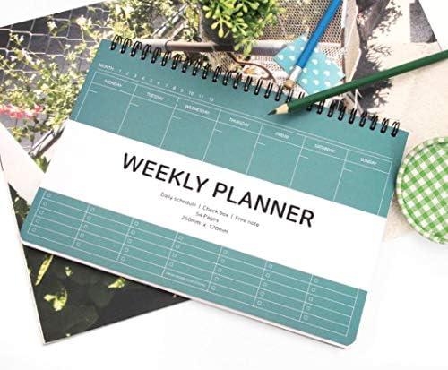 agenda settimanale e giornaliera 25 x 17 cm Dainty scatola di scorti nota gratuita agenda settimanale con rilegatura a spirale Elite Check