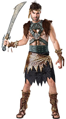 Fun World Men's Barbarian Warrior Costume, Multi, XL]()
