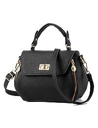 SOTICA Small Leather Women's Shoulder Bag Crossbody Satchel Travel Purse