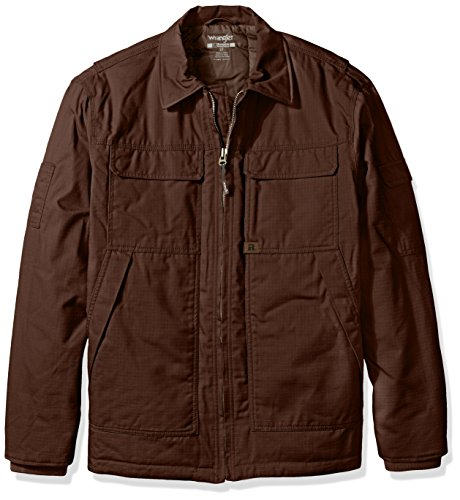 Wrangler Riggs Workwear Men's Big and Tall Ranger Jacket, Dark Brown, 2X/Tall by Wrangler