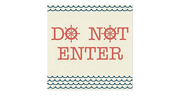 30x20 5-Pack CGSignLab Ghost Aged Rust Window Cling Do Not Enter