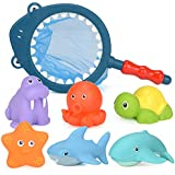 Orchid M Baby Bath Toys Cartoon Marine Animals Kids Bathtub Squirts Toys Bathtime Fun Learning & Education Toys for…