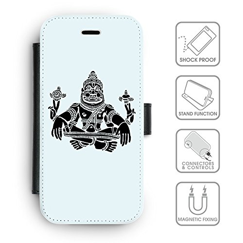 Flip PU Leather Wallet Case avec des fentes de carte de crédit // Q08120619 Hindou 3 Bulles // apple iPhone 6s 2015