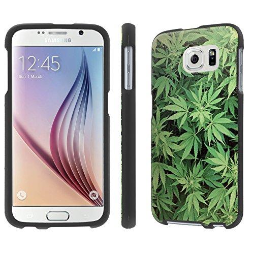 NakedShield Samsung Galaxy [S6] (Marijuana Background) Total Hard Armor LifeStyle Phone Case