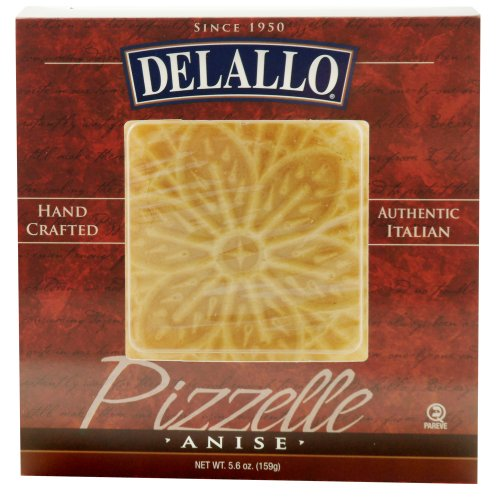 DeLallo Anise Pizzelle, 5.6-Ounce Units (Pack of 6) by DeLallo