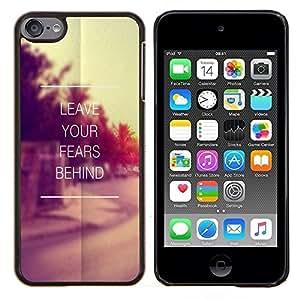 - quote vintage motivational - - Modelo de la piel protectora de la cubierta del caso FOR Apple iPod Touch 6 6th Generation RetroCandy
