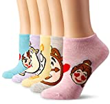 Product picture for Disney Womens Princess 5 Pack No Show Socks