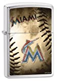 Zippo MLB Miami Marlins Brushed Chrome Lighter