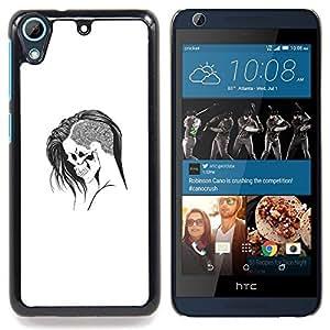 - Emo Goth Skull - - Cubierta del caso de impacto con el patr??n Art Designs FOR HTC Desire 626 & 626s Queen Pattern