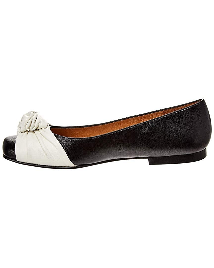 8.5 French Sole Cuervo Leather Flat Black