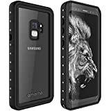 Galaxy S9 Waterproof Case, AMORNO Waterproof Shockproof Dustproof Dirtproof Full Body Case Built in Screen Protector with Touch ID for Samsung Galaxy S9