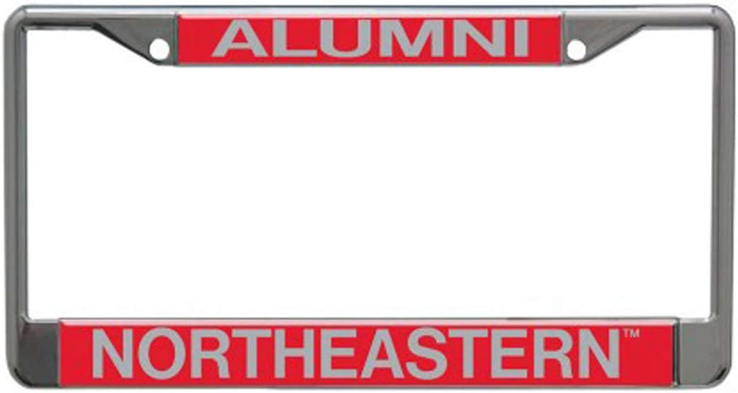 Metal with Inlaid Acrylic 2 Mount Holes WinCraft Northeastern University Huskies Alumni Premium License Plate Frame