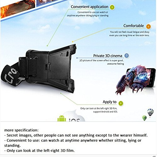 ColorCross Universal Virtual Reality 3D & Video Glasses For iPhone 6