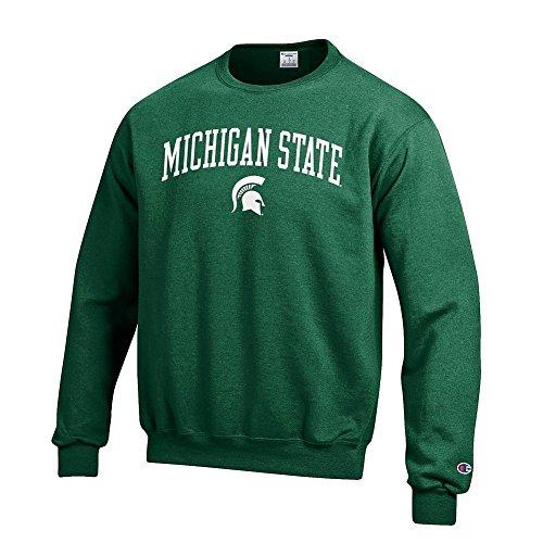 (Elite Fan Shop Michigan State Spartans Crewneck Sweatshirt Varsity Green - XL)