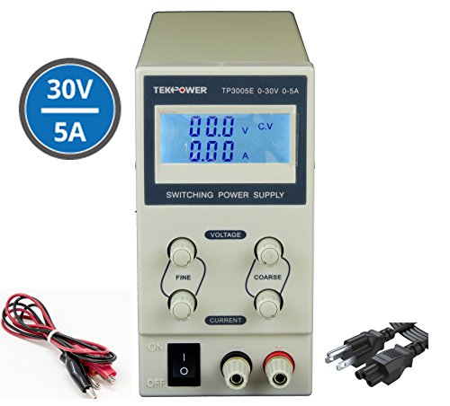 Tekpower TP3005E DC Adjustable Switching Power Supply 30V 5A Digital Display ()
