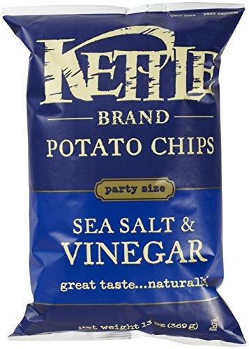 KETTLE FOODS Salt And Vinegar Potato Chips, 13 OZ