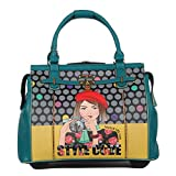 Nicole Lee Women's Fashion Blue Rolling Overnighter, Carry on with Laptop Compartment Travel Tote, Clara Loves Photo, One Size