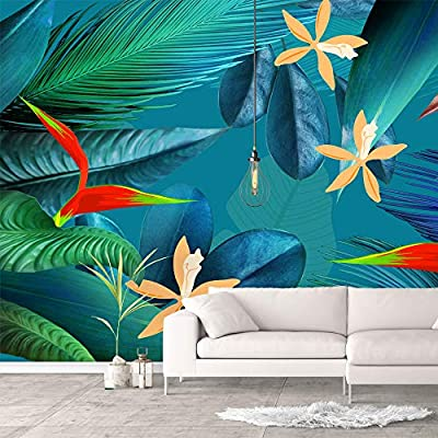 Crafted to Perfection, Grand Style, Wall Murals for Bedroom Green Plants Animals Removable Wallpaper Peel and Stick Wall Stickers