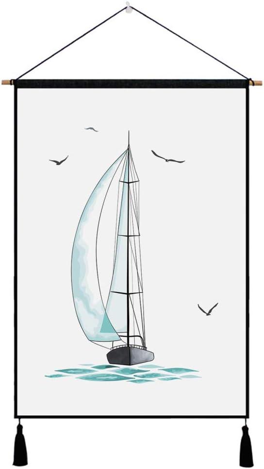 Serie de Dibujos Animados Tapiz de Fondo Tapiz de Tela Tela Decorativa Imagen Colgante decoración de la Cama Tela Colgante 2 45x65cm: Amazon.es: Hogar