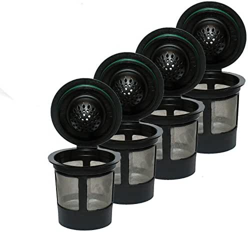 4 Reusable Single K-Cup Solo Filter Pod Coffee Stainless Mesh For Keurig Brewers