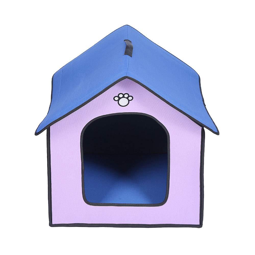 JIAQING Al Aire Libre A Prueba De Lluvia Perrera A Prueba De Agua Al Aire Libre Casa del Animal Doméstico Nido Perrera Cat Litter PVC Compuesto para Mascotas Suministros,Purple(Grande)