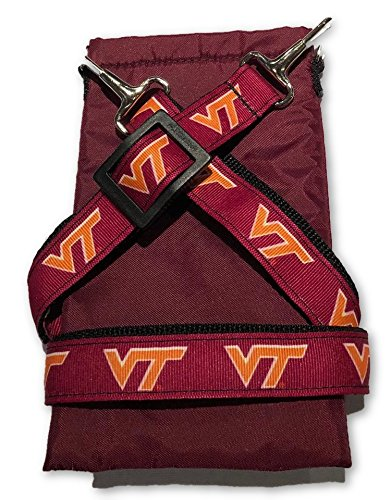 (NCAA Collegiate Crossbody Strap with Cell Phone Pouch - Virginia Tech Hokies)