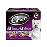 CESAR Filets In Sauce: 6 x Roasted Turkey Flavour And 6 x Prime Rib Flavour, 100 Grams (Pack of 12) - Packaging May Vary