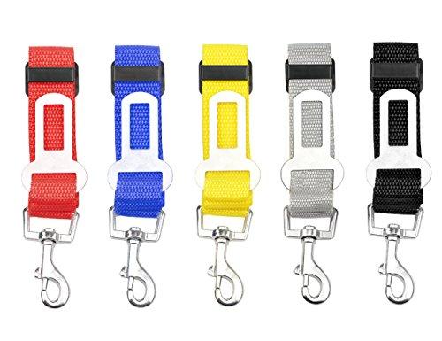 LILYS PET 5pcs Durable Adjustable Pet Car Safety Seat Belt,Vehicle Seatbelts Harness Leash For Dogs,Cats