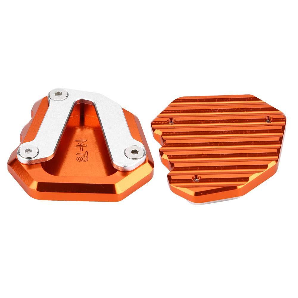 Orange Duokon Motorrad CNC Aluminiumlegierung Seitenst/änder Kickstand Plate Extension Pad Vergr/ö/ßern f/ür 790 DUKE 2018-2019
