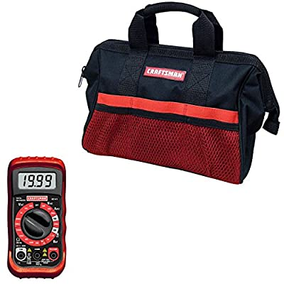 Craftsman 13-inch Tool Bag and Digital Multimeter Bundle