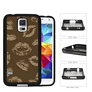 Brown Art Light Brown Kisses Rubber Silicone TPU Cell Phone Case Samsung Galaxy S5 SM-G900