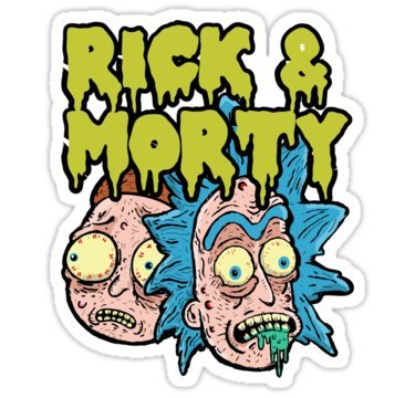 Rick and Morty (Size W8.1 x H9.7 Centimeter) Car Motorcycle Bicycle Skateboard Laptop Luggage Vinyl Sticker Graffiti Decal Bumper Sticker